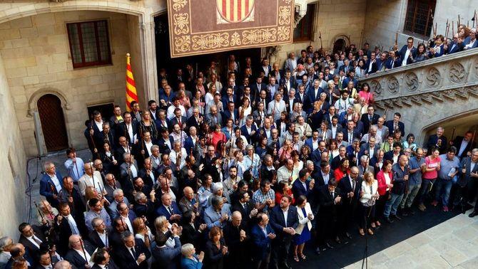 Suport reivindicatiu dels alcaldes a favor del referèndum de l'1 d'octubre