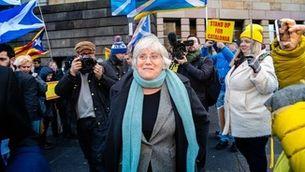 Ponsatí, a Edimburg, en el judici preliminar sobre la seva extradició (EFE / Ian Georgeson)