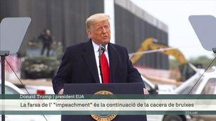 Trump es mostra desafiant el dia que li faran el segon impeachment