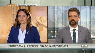 Entrevista a la consellera de la Presidència de la Generalitat, Laura Vilagrà