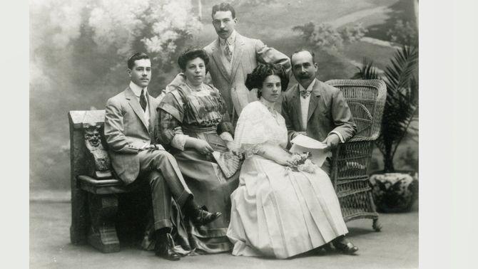 El besavi capità Josep Martí i la seva família