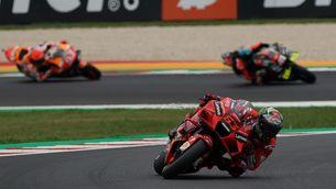 Bagnaia, durant el GP de San Marino