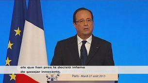 """Hollande vol un """"càstig"""" per a Síria"""