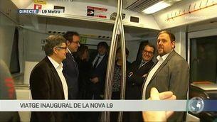 Viatge inaugural de la línia 9 del metro