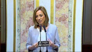 Carme Chacón ha fet oficial la seva decisió aquest matí al Congrés