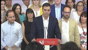 """Pedro Sánchez: """"Espero que el senyor Iglesias reflexioni sobre aquests resultats"""""""