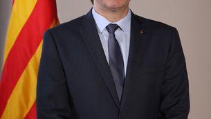 Retrat oficial de Carles Puigdemont com a president de la Generalitat