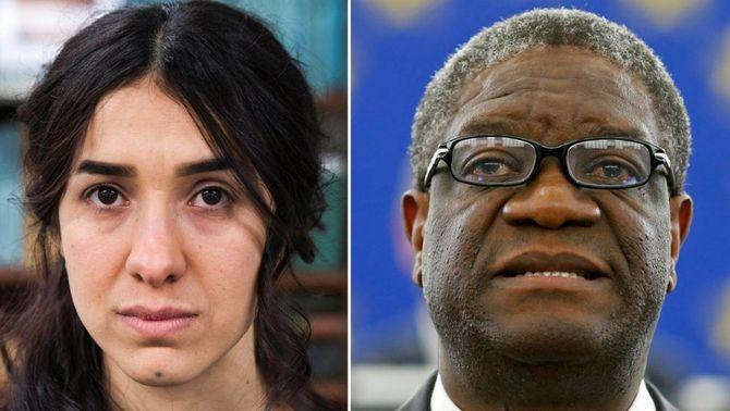 Nadia Murad i Denis Mukwege, distingits amb el Nobel de la Pau (Reuters)