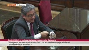 """Millo: """"En una entrevista a TV3 a l'octubre del 2017 vaig dir que la situació que s'havia produït tenia un únic responsable: el president de la Generalitat"""" [vídeo]"""
