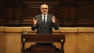 El president del grup parlamentari de Cs, Carlos Carrizosa, durant el debat de política general al ple del 16 de setembre de 2020.