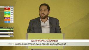 """Ignacio Garriga (Vox): """"Avui liderem l'oposició però acabarem liderant el govern a Catalunya"""""""