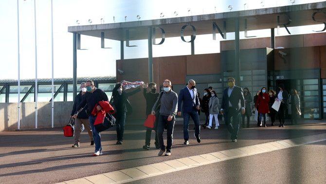 Els presos de Lledoners, sortint el gener passat, després que se'ls concedís el tercer grau