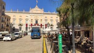 La Plaça de la Font de Tarragona uns dies abans de les festes de Santa Tecla