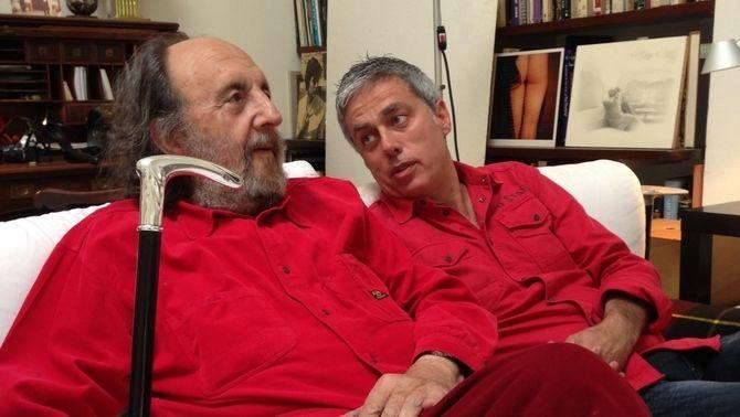Albert Om, amb Leopoldo Pomés.