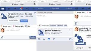 """Botó """"he votat"""" a Facebook"""