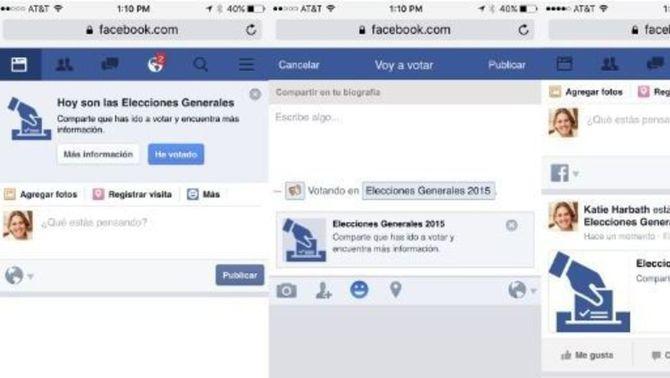 """Facebook activa el botó """"he votat"""" per a les eleccions del 20-D"""