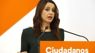 La cap de l'oposició Inés Arrimadas