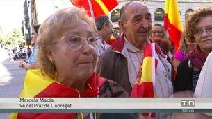 Els partidaris de la unitat d'Espanya surten al carrer