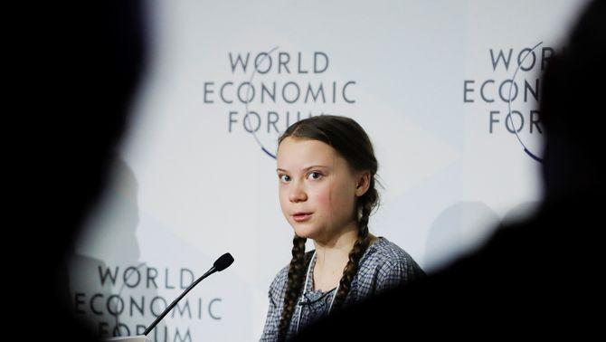 """L'activista de 16 anys Greta Thunberg a Davos: """"Algú té la culpa del canvi climàtic"""""""