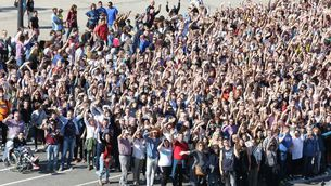 Més de 4.000 persones han participat en la gravació de l'espot de La Marató 2019