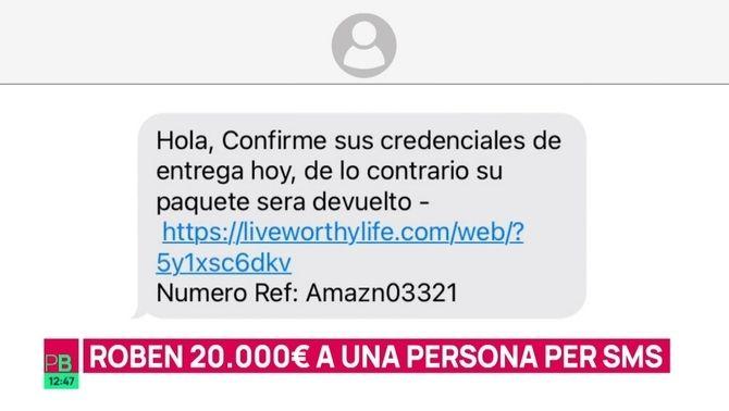 Nova estafa massiva: roben 20.000 euros per SMS