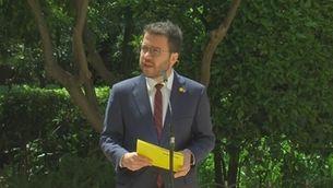 Planta baixa - ERC i Junts acorden in extremis investir president Pere Aragonès i formar un govern de coalició