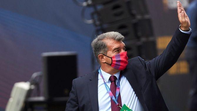 Emotiu missatge de Joan Laporta als presos polítics