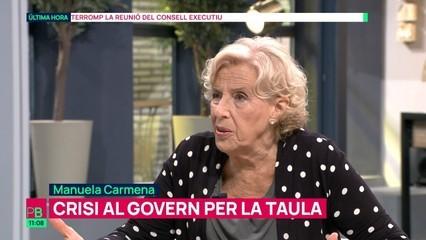 """Manuela Carmena: """"És penós que, per interessos de partit, es desaprofitin alternatives de solució a problemes reals"""""""