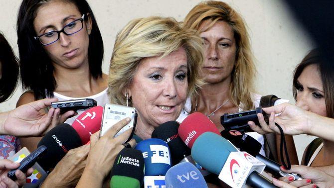 Esperanza Aguirre critica que Catalunya rebi més diners que la Comunitat de Madrid