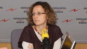 La consellera d'Eduació, Meritxell Ruiz, als estudis de Catalunya Ràdio
