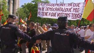 Manifestació organitzada per La Falange