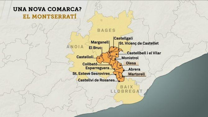 El Montserratí vol ser la quaranta-tresena comarca de Catalunya