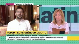 Imatge de:Tertúlia sobre les divergències de Podem i els Comuns sobre l'1-O