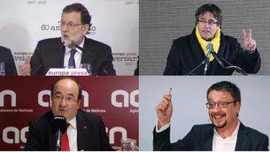 """Puigdemont parla d'""""espoli"""" de les obres de Sixena i Rajoy """"acata"""" la decisió del jutge"""