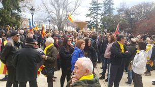 Lleida: càrrega policial dels Mossos, salves a l'aire i set manifestants ferits