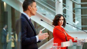 El president espanyol i la president de la Comunitat de Madrid van començar la setmana reunint-se (EFE/Emilio Naranjo)
