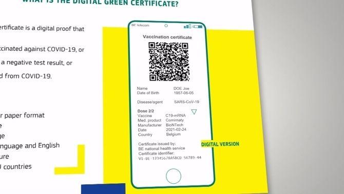 Imatge promocional del Certificat Digital UE Covid