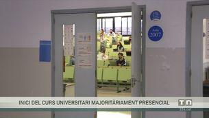 El curs universitari començarà majoritàriament presencial