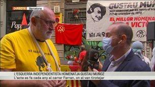 Homenatge de l'esquerra independentista a Gustau Muñoz