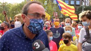 Els partits van separats a la manifestació independentista
