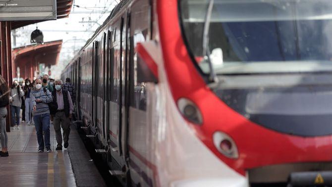 Un tren de Renfe, en una de les aturades d'aquesta setmana (Eduardo Parra/Europa Press)