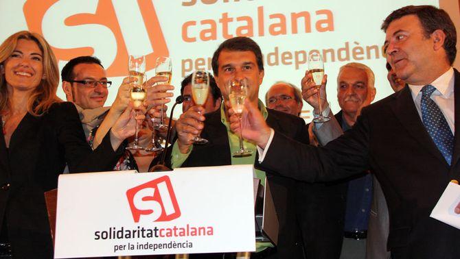 Solidaritat Catalana escull Joan Laporta com a cap de llista en unes primàries sense sorpreses