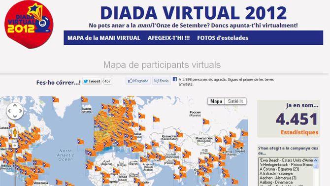 Creen una Diada Virtual per a qui no pugui anar a la manifestació de l'Onze de Setembre
