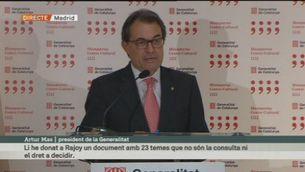 Roda de premsa d'Artur Mas (primera part)