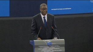 Cerimònia d'entrega del Premi Sàkharov a Denis Mukwege