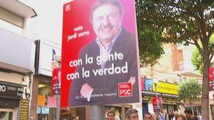 Iceta a Badalona amb Jordi Serra (PSC)