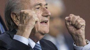 Joseph Blatter celebra la seva reelecció (EFE)
