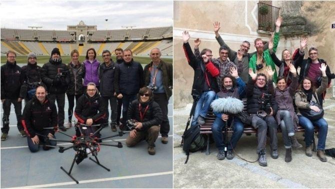 """Part de l'equip de rodatge de """"Catalunya Experience"""""""