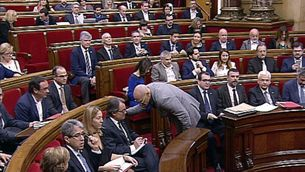 Romeva, amb Mas avui al Parlament