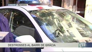 Així s'ha llevat el barri de Gràcia després d'una nit d'aldarulls